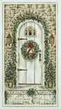 Christmas Welcome Print on Canvas by Constance Lael