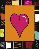 Bright Mosaic Heart Print on Canvas by Najah Clemmons