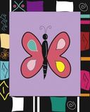 Bright Mosaic Butterfly Print on Canvas by Najah Clemmons