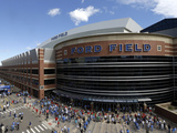 Detroit Lions - Sept 9, 2012: Outside Ford Field Prints by Paul Sancya