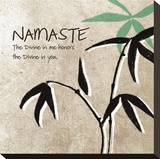 Namaste Stretched Canvas Print by Linda Woods