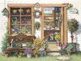 Fancy Flower Shoppe Print on Canvas by Janet Kruskamp