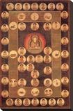 Buddha Circle Stretched Canvas Print by Jyakuchu Ito