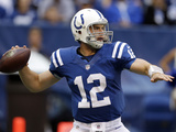 Indianapolis Colts - Sept 23, 2012: Andrew Luck Photographic Print by Darron Cummings