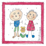 Childhood Friends Print on Canvas by Tressa Stubbs