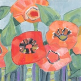 Poppin Poppies II Print on Canvas by M.J. Beswick