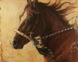 He's a Head Turner Print on Canvas by Karen Bonnie