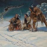 Christmas Mystery Print on Canvas by Karen Bonnie