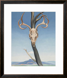 Deer's Skull with Pedernal Prints by Georgia O'Keeffe