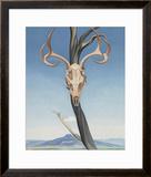 Deer's Skull with Pedernal Prints by Georgia O'Keeffe