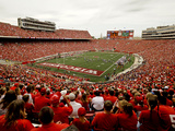 University of Wisconsin: Wisconsin: Badgers Play in Camp Randall Stadium Photographic Print
