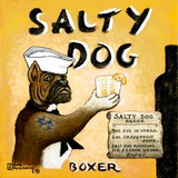 Salty Dog Print on Canvas by Janet Kruskamp