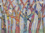 Tree Party III Print on Canvas by M.J. Beswick