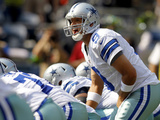 Dallas Cowboys - Sept 16, 2012: Tony Romo Plakater av John Froschauer