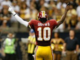 Washington Redskins - Sept 9, 2012: Robert Griffin III Plakater av Aaron M. Sprecher