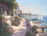 Private Harbor Print on Canvas by Yuri Lee