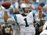 Carolina Panthers - Sept 16, 2012: Cam Newton Photo av Chuck Burton