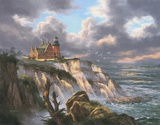 Block Island Lighthouse Print on Canvas by Rudi Reichardt