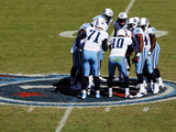 Tennessee Titans - Sept 23, 2012: Titans Huddle on the Logo Photo by Joe Howell