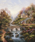 Mountain Chapel Print on Canvas by Klaus Strubel