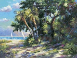 Tropic Breeze Print on Canvas by  E. Wood