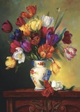 Tulips On Parade Print on Canvas by Fran Di Giacomo