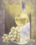 Grapes And Chenin Blanc Print on Canvas by Nancy Cheng