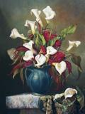 Callas With Cockscomb Print on Canvas by Fran Di Giacomo
