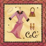 CoCo Print on Canvas by Jennifer Brinley