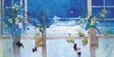 Ocean Moonlight Print on Canvas by S. Burkett Kaiser