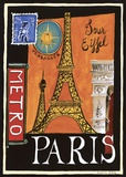 Metro, Paris Print on Canvas by Katharine Gracey