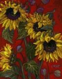 Sunflowers II Print on Canvas by Shari White