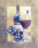 Smooth Red Wine Print on Canvas by Nancy Cheng