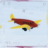 Plane Print on Canvas by Paul Gibson