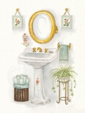 Old Fashioned Pedestal Print on Canvas by Bambi Papais