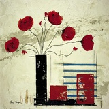 Les Coquelicots II Print on Canvas by Isabelle Maysonnave