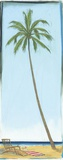 Seaside Coconut Tree Print on Canvas by Paul Gibson