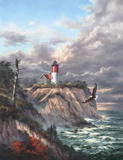 Nauset Light Print on Canvas by Rudi Reichardt