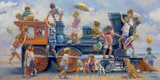 Joyride Print on Canvas by Lucelle Raad