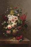 Classic Bouquet II Print on Canvas by  Steiner