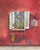 French Bicycle III Print on Canvas by Katharine Gracey
