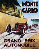 Monte Carlo Grand Prix Print on Canvas by Chris Flanagan