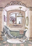 Vintage Bathtub ll Print on Canvas by Janet Kruskamp