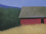 The LaCross Barn Print on Canvas by Karen Jones