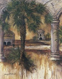 Gateway Of Palms Print on Canvas by Sherry Strickland