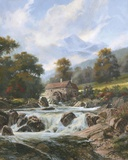 The Old Stone Mill Print on Canvas by Nenad Mirkovich