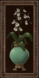 Ginger Jar With Orchids I Print on Canvas by Janet Kruskamp