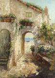 Bernazza Arch Print on Canvas by  Fabio