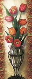 Paisley Tulip Print on Canvas by Alma Lee