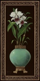 Ginger Jar With Orchids II Print on Canvas by Janet Kruskamp